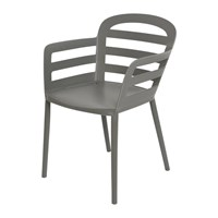 Amara Outdoor Stackable Dining Chair Anthracite