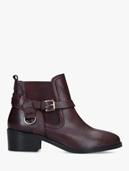Carvela Saddles Leather Ankle Boots Red