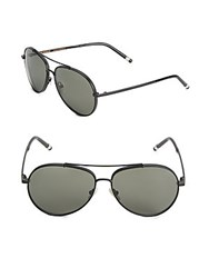 Boucheron 58Mm Aviator Sunglasses Black