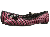 Salvatore Ferragamo Varina Zigzag Nero Emeraude Blue Indien Women's Dress Flat Shoes Pink