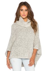 Bishop Young Aubree Cowl Neck Poncho Light Gray