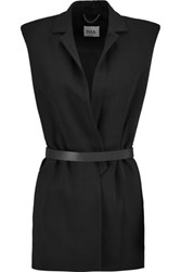 Issa Cyril Belted Crepe Vest Black
