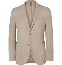 Incotex Beige Slim Fit Linen And Cotton Blend Blazer Beige