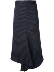 Bianca Spender Quilted And Ponte Amelia Skirt Blue