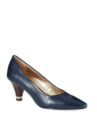 Circa Joan And David Daily Pumps Navy Leather