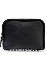 Alexander Wang Fumo Studded Pebbled Leather Cosmetics Case Black