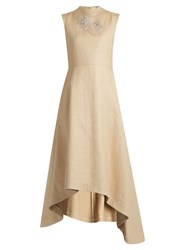 A.W.A.K.E. Natural Princess Straw Effect Dress Beige