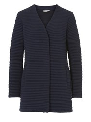 Betty Barclay And Co. Ribbed Cardigan Coat Dark Sapphire