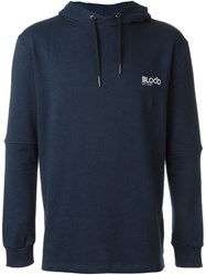 Blood Brother Logo Hoodie Blue