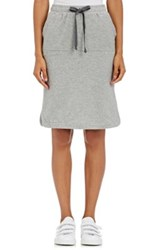 Skin Women's Cotton Blend Jersey Drawstring Skirt Grey