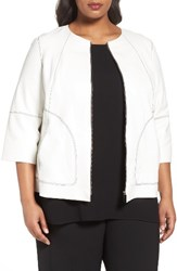 Lafayette 148 New York Plus Size Women's Levine Leather Jacket