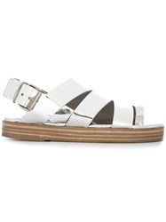 Marsell Cut Out Chunky Sole Sandals Metallic