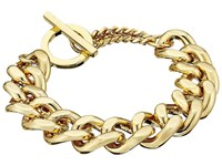 French Connection Medium Curb Chain Bracelet Gold Bracelet