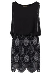Lace And Beads Sharon Angela Cocktail Dress Party Dress Black Silver