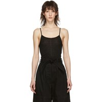 Christophe Lemaire Black Second Skin Tank Top