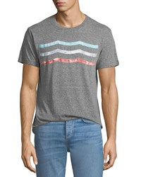 Sol Angeles Vintage Waves Graphic T Shirt Gray