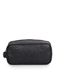 Robert Graham Richard Paisley Embossed Toiletry Bag Black