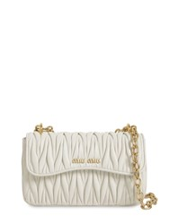 Miu Miu Matelasse Leather Shoulder Bag White
