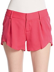Alice Olivia Butterfly Pleated Shorts Hot Pink