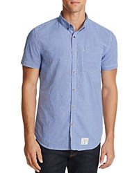 Superdry Pantechnicon Regular Fit Button Down Shirt Watford Blue
