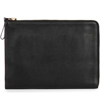 Tom Ford Leather Document Bag Black