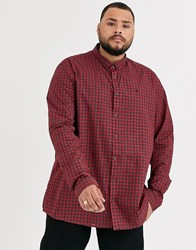 Burton Menswear Big And Tall Shirt In Red Check