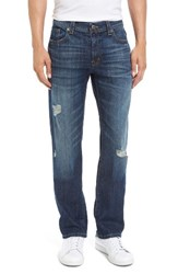 Fidelity Men's Jimmy Ripped Slim Straight Leg Jeans Blue