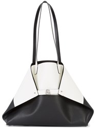Akris Contrast Tote Bag Black
