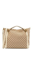 Wgaca What Goes Around Comes Around Gucci Canvas Miss Tote Previously Owned Cream