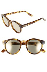 Le Specs Women's 'Hey Macarena' 51Mm Retro Sunglasses Syrup Tortoise Gold Mirror Syrup Tortoise Gold Mirror