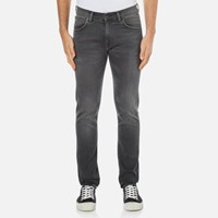 Edwin Men's Ed 85 Slim Tapered Drop Crotch Jeans Light Trip Used Grey