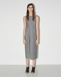 Maison Martin Margiela Drape Dress Black And White