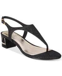 Adrianna Papell Cassidy Block Heel Evening Sandals Women's Shoes Black