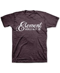 Element Men's Graphic Print T Shirt Wine