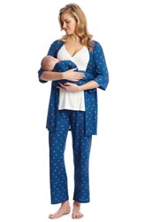 Everly Grey Roxanne During And After 5 Piece Maternity Sleepwear Set Hearts