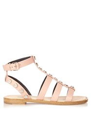 Balenciaga Amp Stud Embellished Leather Gladiator Sandals
