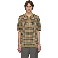 Burberry Beige Knit Westbrook Polo
