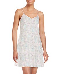 Lord And Taylor Floral Chemise Paisley Pink