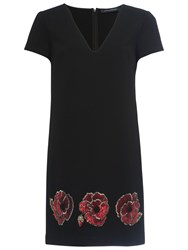 French Connection Camilla Tunic Dress Black Red