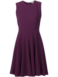 Rebecca Taylor Flared Dress Pink And Purple
