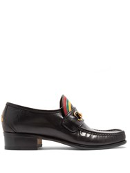 Gucci Vegas Leather Loafers Black Multi