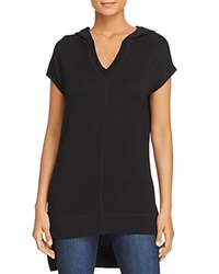 Marc New York Performance Hooded High Low Tunic Top Black