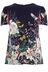 Oasis Enchanted Forest T Shirt Multi Coloured Multi Coloured