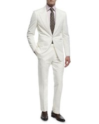 Tom Ford O'connor Base Cotton Two Piece Suit Ivory