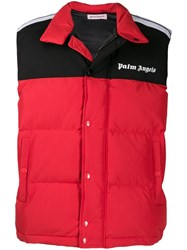 Palm Angels Padded Gilet Red
