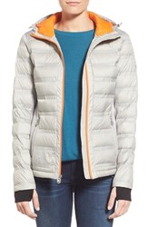 Women's Michael Michael Kors Mixed Media Down Jacket