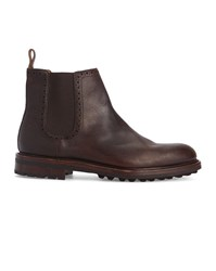 Polo Ralph Lauren Brown Commando Sole Leather Chelsea Boots