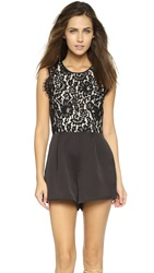 Keepsake White Electric Romper Black