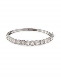 Neiman Marcus 14K White Gold Illusion Set Diamond Bangle Bracelet