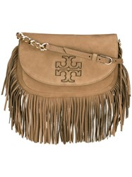Tory Burch 'Harper' Fringed Crossbody Bag Brown